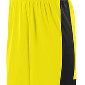 Youth Wicking Polyester Short with Contrast Inserts