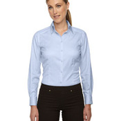 Ladies' Wrinkle-Free Two-Ply 80's Cotton Taped Stripe Jacquard Shirt